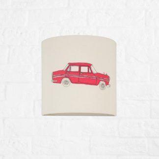 lampa dla chłopca z czerwonym samochodem
