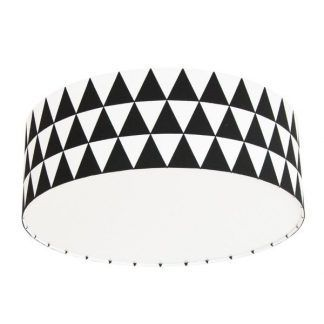 lampa dla chłopczyka w czarne trójkąty