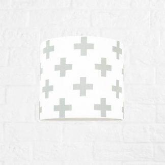 lampa dla dziecka w krzyżyki - kinkiet biały