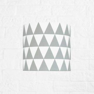 lampa dla dziecka w trójkąciki - szaro biała