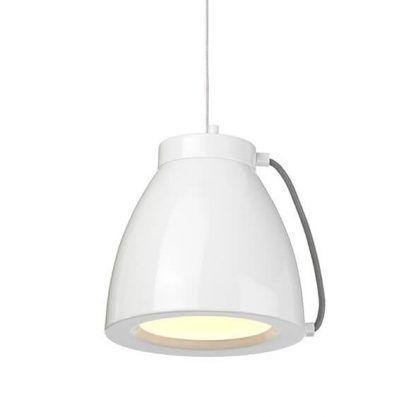 Lampa do kuchni z białym metalowym kloszem