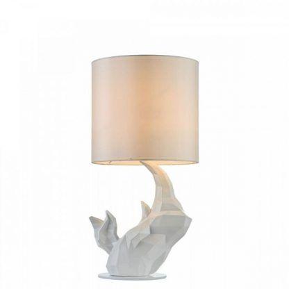 lampa drewniana wyrzeźbiona z abażurem białym