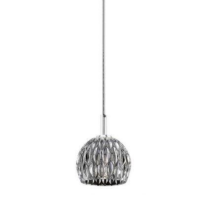 lampa glamour do kuchni - wiszący zdobiony klosz