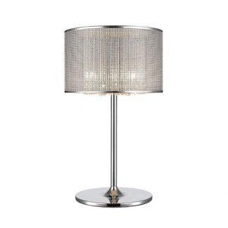 lampa glamour stołowa z diamencikami i kryształkami