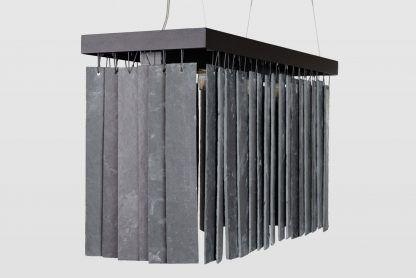 lampa kamienna nad stół - wiszące płytki