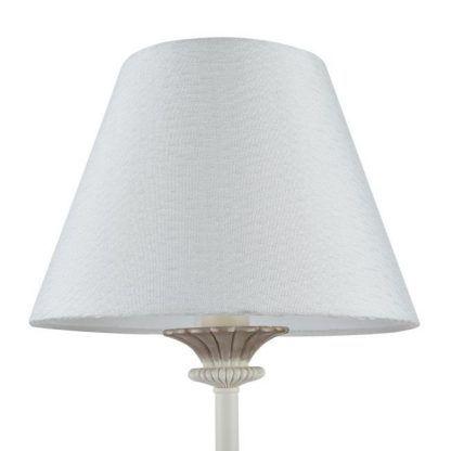 lampa klasyczna z białym stożkowym abażurem