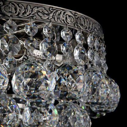 lampa kryształowa - zbliżenie na szkło