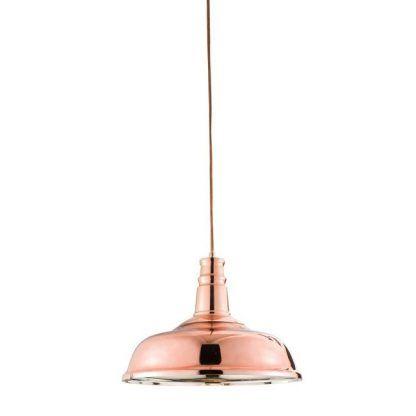 lampa loftowa miedziana nad stół do kuchni