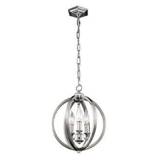 Lampa metalowa kula ze świecznikami do salonu