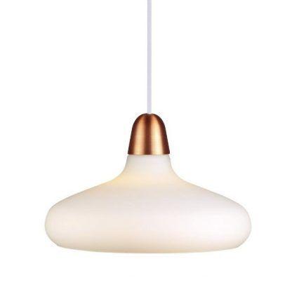 lampa mleczny klosz opływowy złoty element