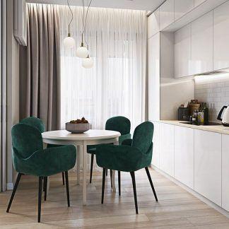 Lampa nad stołem jadalnianym biała kuchnia