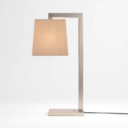 lampa podłogowa geometryczna z abażurem