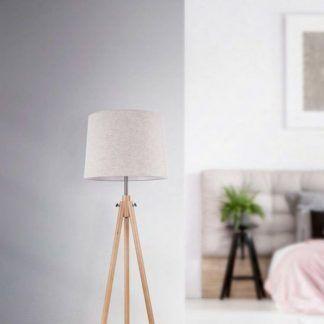 lampa podłogowa trójnóg do sypialni