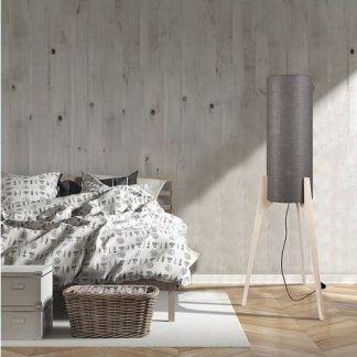 lampa podłogowa trójnóg sypialnia scandi