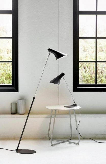 Lampa podłogowa Vanila - czarna - regulowane ramię