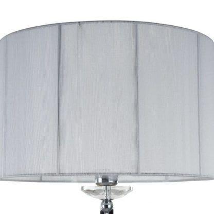 lampa podłogowa z białym abażurem klasyczna
