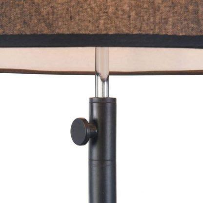 lampa podłogowa z czarnym kloszem