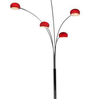lampa podłogowa z rozchodzącymi się ramionami - czerwona