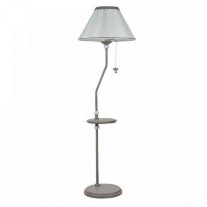 lampa podłogowa z włącznikiem sznurkowym - stolik w 1