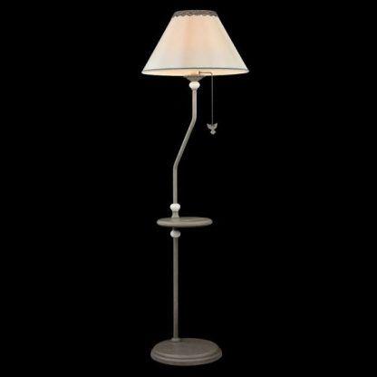 lampa podłogowa ze stolikiem na kawę - klasyczna