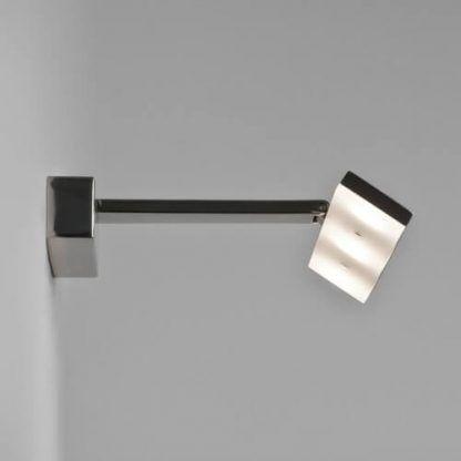 lampa podłużna led nad lustro w łazience - chromowany