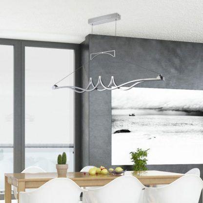 lampa podłużna nad stół do jadalni