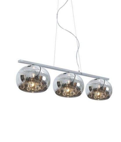 lampa potrójna wisząca z 3 kloszami szklanymi glamour