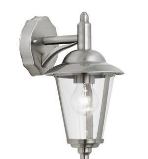 Lampa ścienna latarnia w kolorze srebrnym