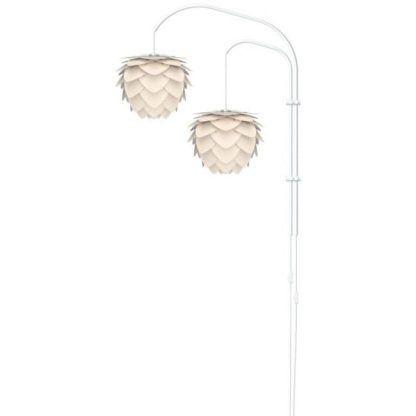 Lampa ścienna z dwoma abażurami do pokoju dziecka