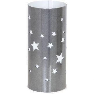Lampa srebrna w gwiazdki do pokoju dziecięcego