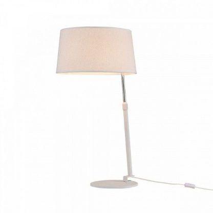 lampa stojąca nowoczesna - cała biała z wtyczką na kablu