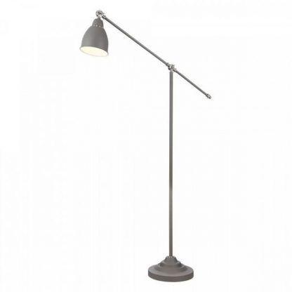 lampa stojąca szara z dziurkami - wysoka na nodze regulowanej