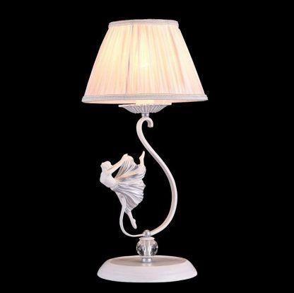 lampa stojąca z baletnicą - biała elegancka