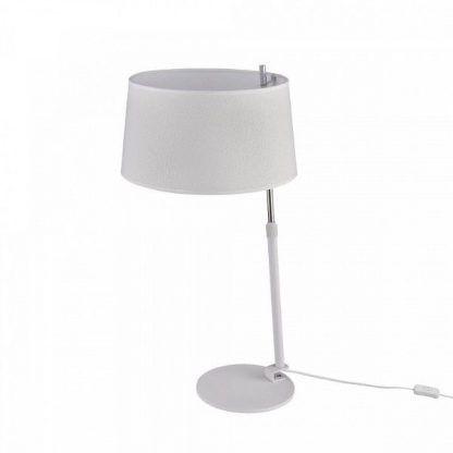 lampa stołowa biała - włącznik ka przewodzie