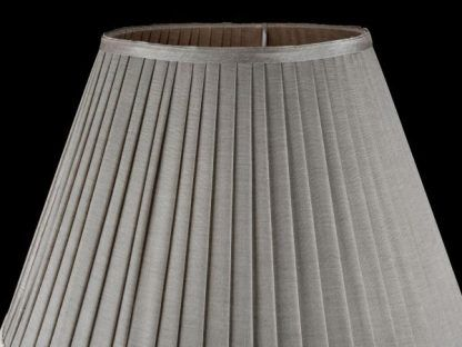 lampa stołowa do salonu abażur z plisami