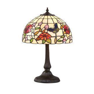 lampa stołowa do salonu witrażowe szkło dworkowa