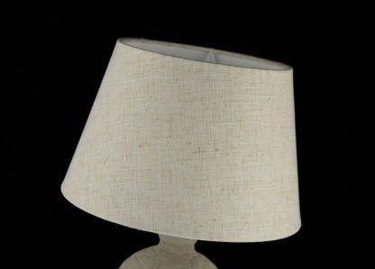 lampa stołowa do salonu z kloszem ecru