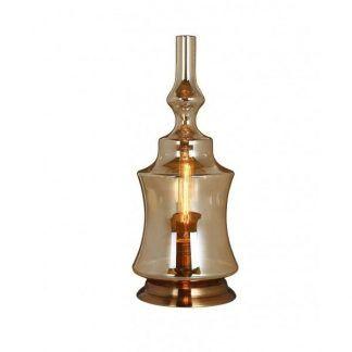 lampa stołowa imitacja lampy naftowej szklana