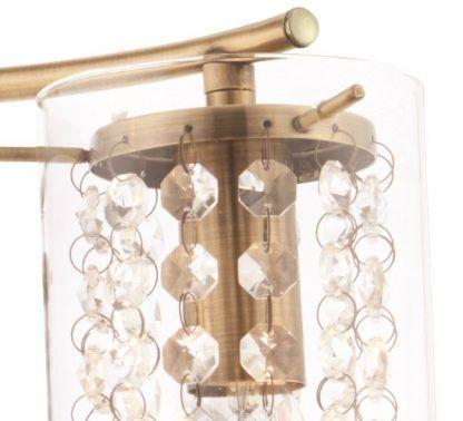 lampa stołowa kryształowa na konsolę do salonu