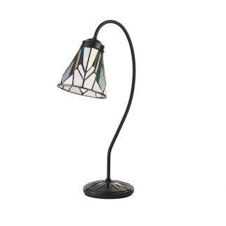 lampa stołowa kwiat witrażowy klosz jasne kolory