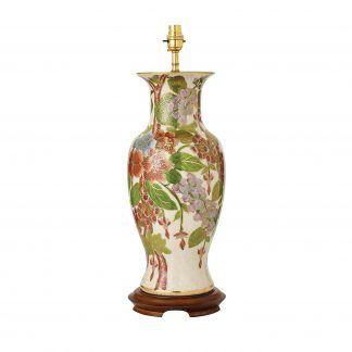 lampa stołowa ręcznie malowana porcelana