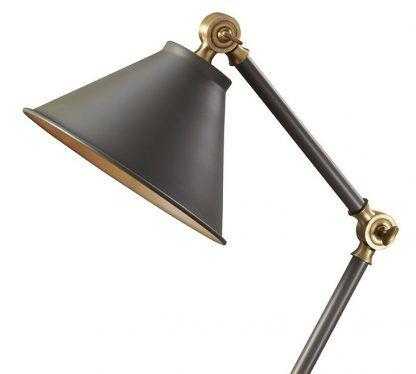 lampa stołowa reflektor - zgniłą zieleń i złoto
