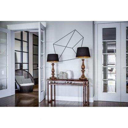 lampa stołowa salon modern classic aranżacja