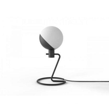 lampa stołowa styl nowoczesny biało-czarna