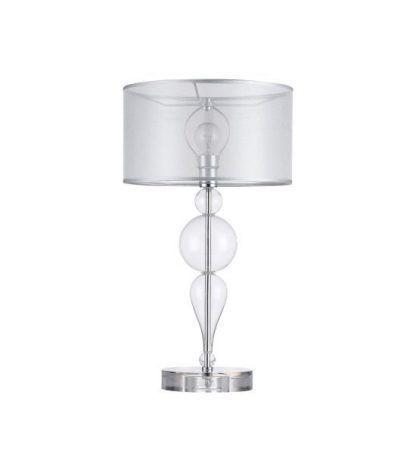 lampa stołowa szklane kule w podstawie - abażur