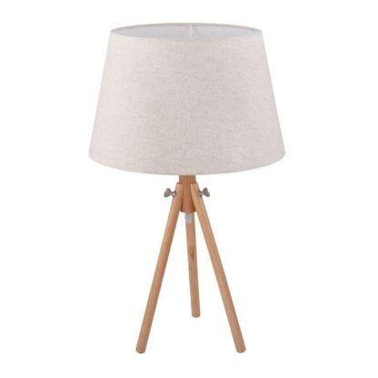 lampa stołowa trójnóg na szafkę do sypialni