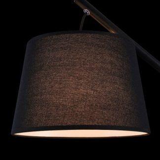 lampa stołowa z abażurem na zawieszeniu
