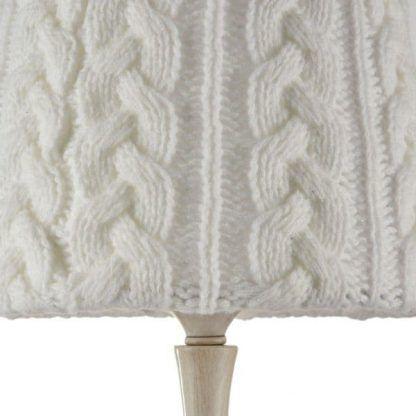 lampa stołowa z abażurem sweterkowym