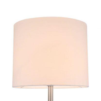 lampa stołowa z białym abażurem