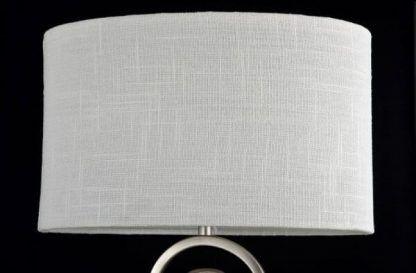 lampa stołowa z białym klasycznym abażurem
